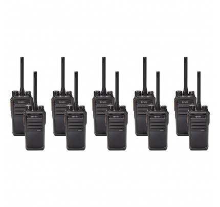 Hytera PD505LF Ten Pack License-Free Two-Way Radios