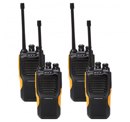 Hytera Power446 Quad Pack License-Free Two Way Radios