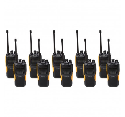 Hytera Power446 Ten Pack License-Free Two Way Radios
