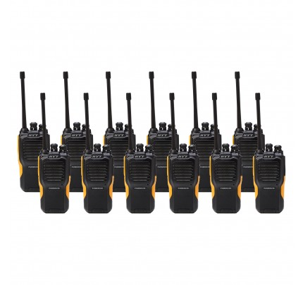 Hytera Power446 Twelve Pack License-Free Two Way Radios
