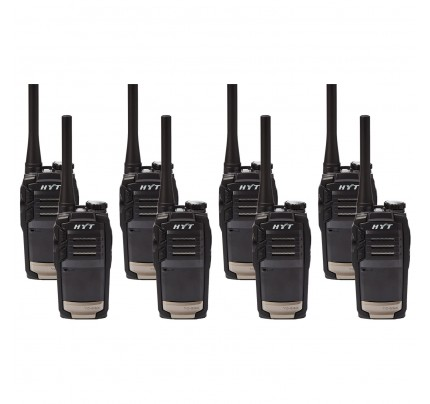 Hytera TC320 Eight Pack License-Free Two Way Radios