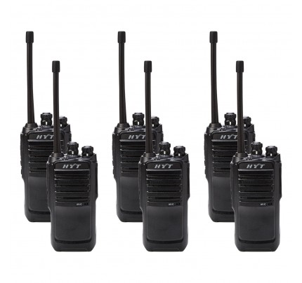 Hytera TC446S Six Pack License-Free Two Way Radios