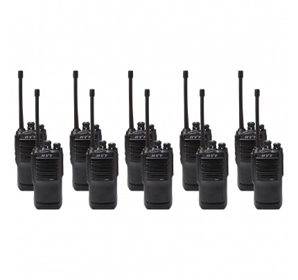 Hytera TC446S Ten Pack License-Free Two Way Radios