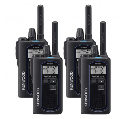 Kenwood TK-3601DE Quad Pack Digital & Analogue Two-Way Radio