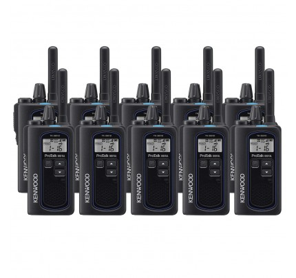 Kenwood TK-3601DE Ten Pack Digital & Analogue License-Free Two-Way Radios