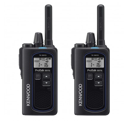 Kenwood TK-3601DE Twin Pack Digital & Analogue License-Free Two-Way Radios