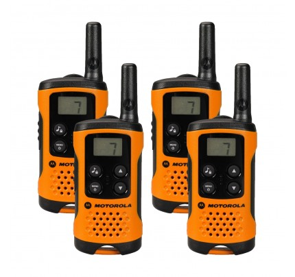 Motorola TLKR T41 Quad Pack Two-Way Radios in Orange