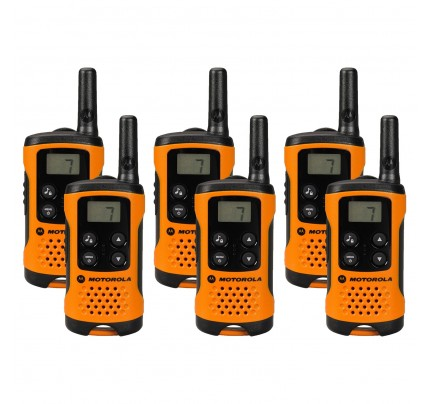 Motorola TLKR T41 Six Pack Two-Way Radios in Orange
