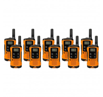 Motorola TLKR T41 Ten Pack Two-Way Radios in Orange