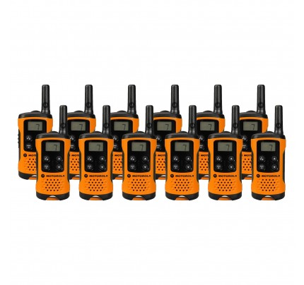 Motorola TLKR T41 Twelve Pack Two-Way Radios in Orange