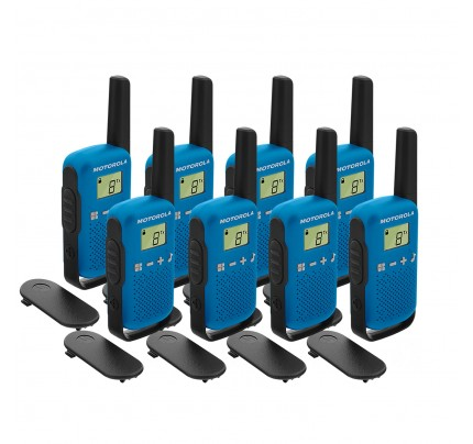Motorola TALKABOUT T42 Eight Pack Two-Way Radios in Blue