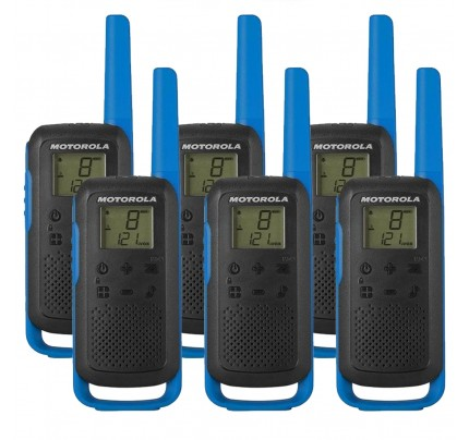 Motorola TALKABOUT T62 Six Pack Two Way Radios in Blue
