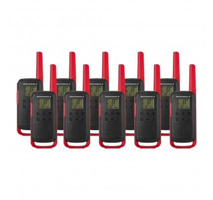 Motorola TALKABOUT T62 Ten Pack Two Way Radios in Red