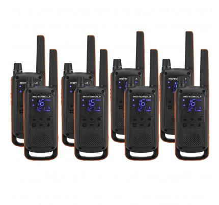 Motorola TALKABOUT T82 Eight Pack Two-Way Radios