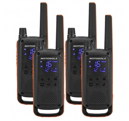 Motorola TALKABOUT T82 Quad Pack Two-Way Radios