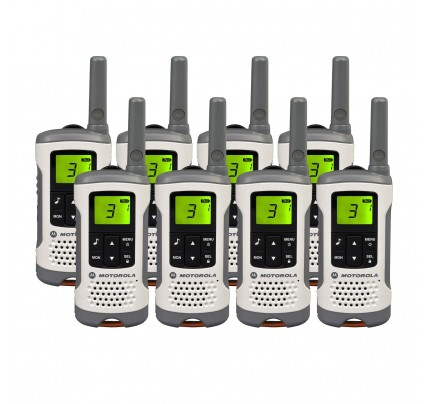 Motorola TLKR T50 Eight Pack License-free Two Way Radios