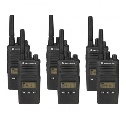 Motorola XT460 Six Pack Two-Way Radios with Charger