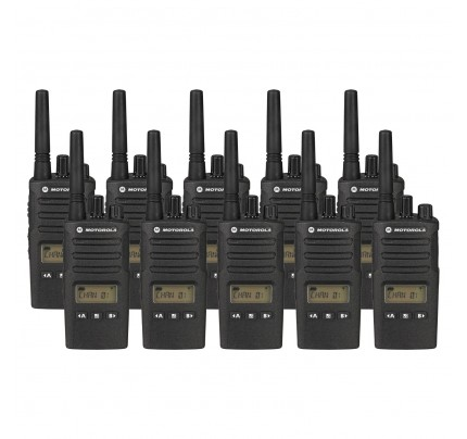 Motorola XT460 Ten Pack Two-Way Radios with Charger