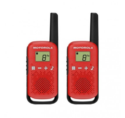 Motorola TALKABOUT T42 Twin Pack Two-Way Radios in Red