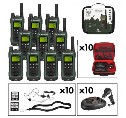 Motorola TLKR T81 Hunter Ten Pack Long Range Two-Way Radios