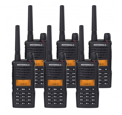 Motorola XT660 Six Pack Digital Two Way Radio with Charger
