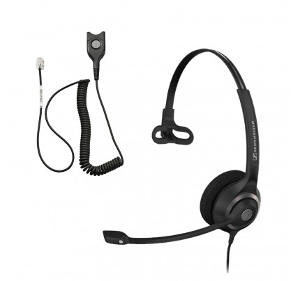 Sennheiser SC 230 QD Corded Headset with Analogue Bottom Cable