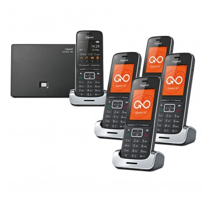 Siemens Gigaset SL450A GO Cordless Phone - Black Edition, Five Handsets