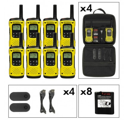 Motorola TLKR T92 Eight Pack License-Free Two Way Radios