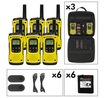 Motorola TLKR T92 Six Pack License-Free Two Way Radios