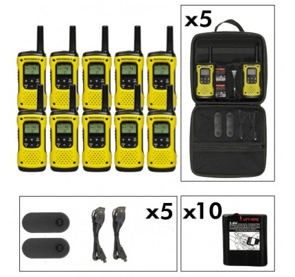Motorola TLKR T92 Ten Pack License-Free Two Way Radios