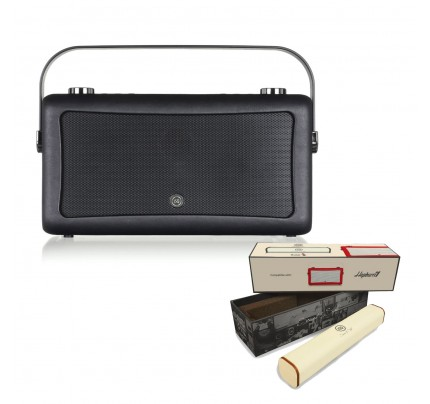VQ Hepburn Mk II Portable DAB+/FM Radio & Bluetooth Speaker with Rechargeable Battery Pack in Black