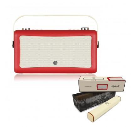 VQ Hepburn Mk II Portable DAB+/FM Radio & Bluetooth Speaker with Rechargeable Battery Pack in Red
