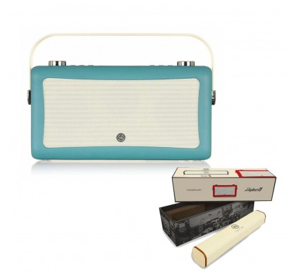 VQ Hepburn Mk II Portable DAB+/FM Radio & Bluetooth Speaker with Rechargeable Battery Pack in Teal