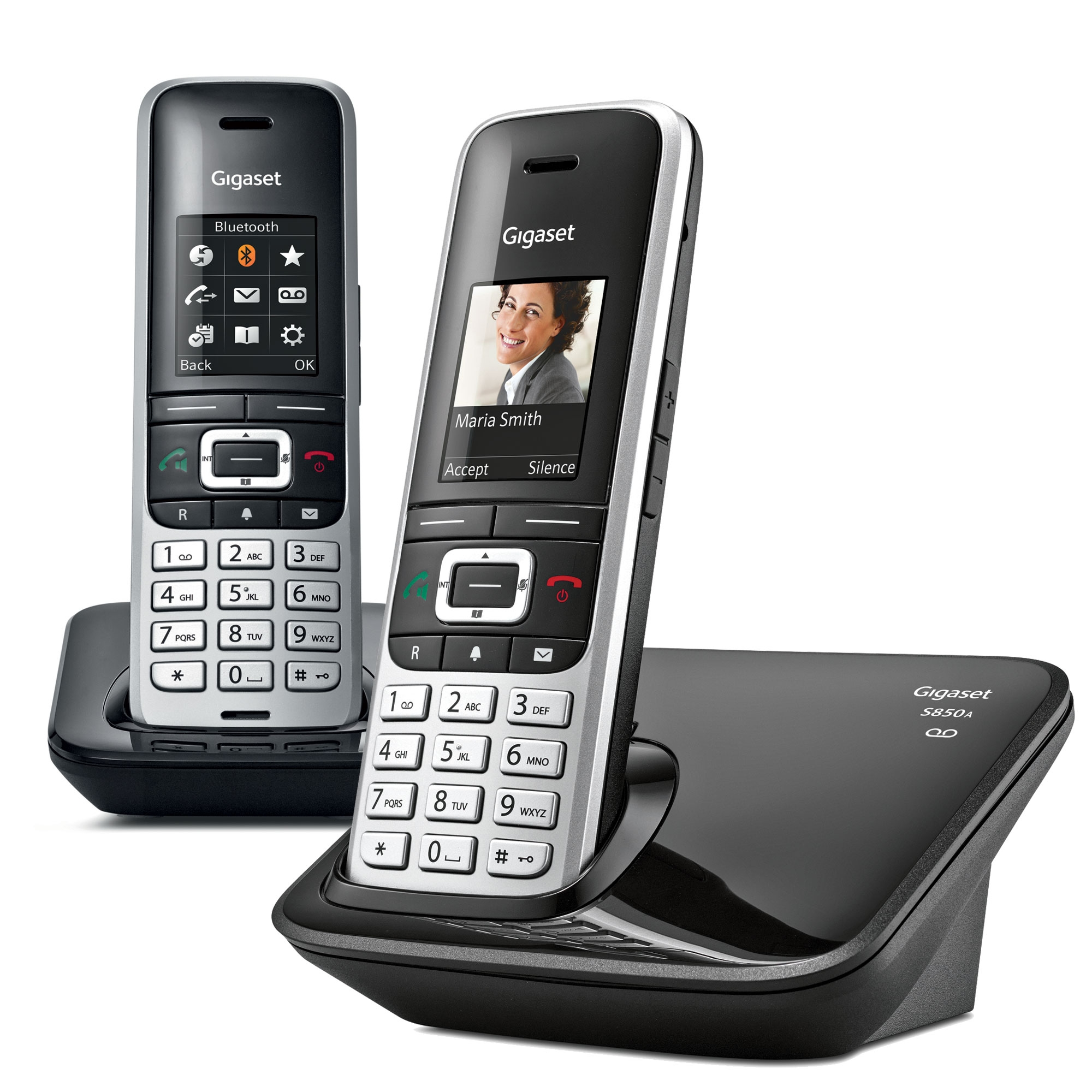 Image of Siemens Gigaset Premium S850A Cordless Phone, Twin Handset with Answer Machine