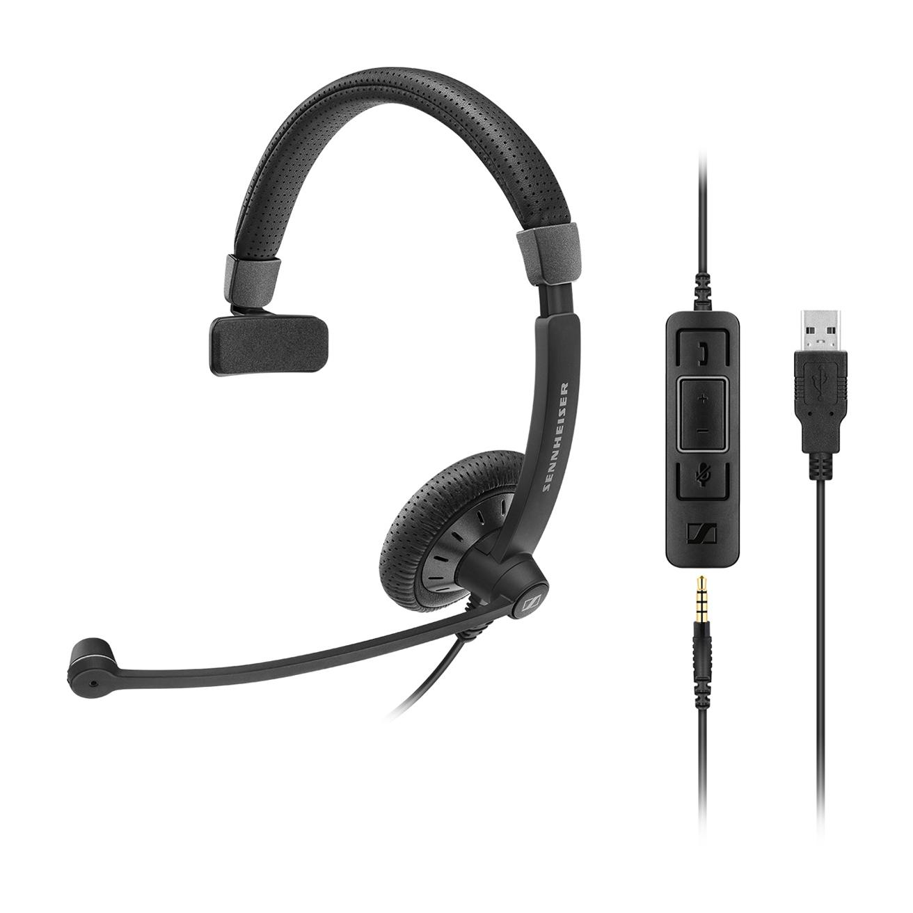 Image of Sennheiser SC 45 MS 3.5mm & USB-A Mono Corded Headset