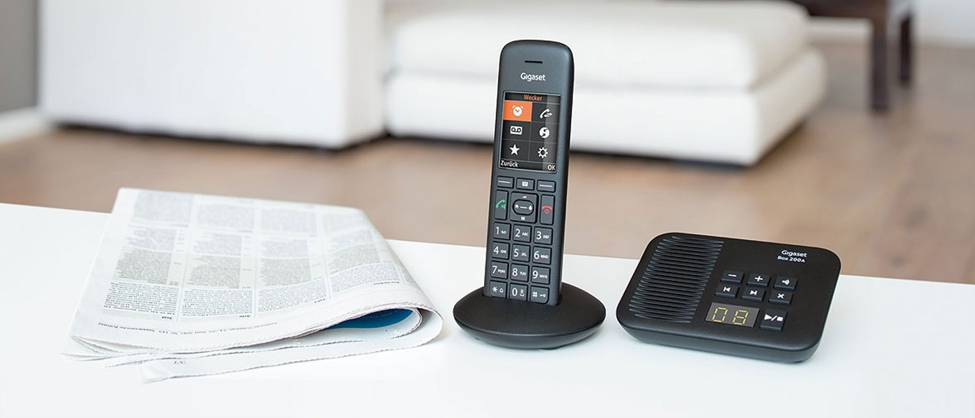 Siemens Gigaset Premium C570A Cordless Phone, Single Handset with Answer  Machine