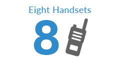 Eight Pack Two Way Radios