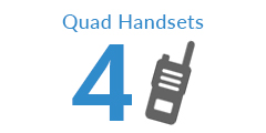 Quad Pack Two Way Radios