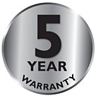 Philips 5 year warranty