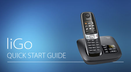 liGo quick start guide: Lock/unlock keypad & switch off handset