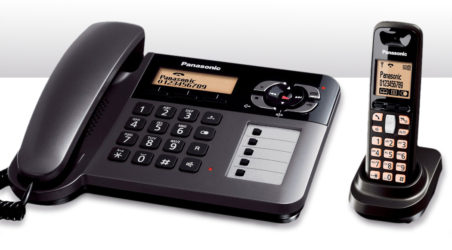 Introducing the ultra-convenient Panasonic KX-TG 6461 dual purpose phone with corded & cordless handset combination