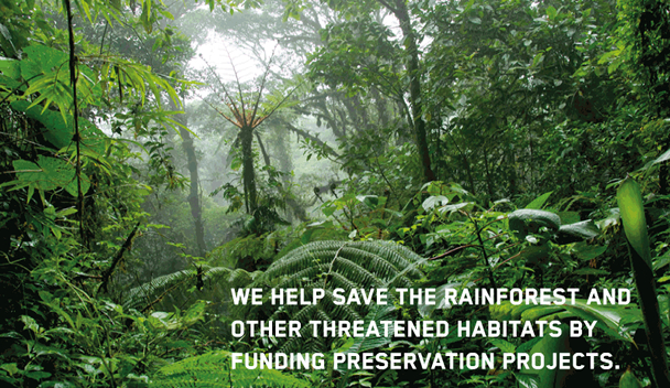 We help the rainforest