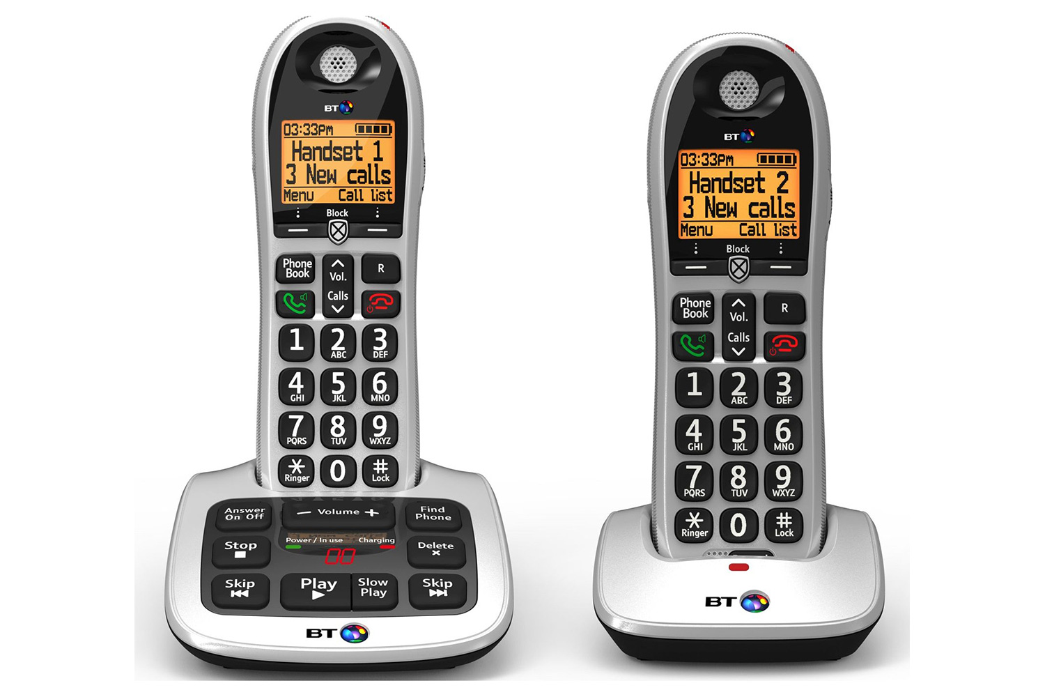 BT 4600 Twin Big Button Cordless Phone